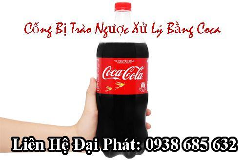 Xử lý cống trào ngược bằng nước coca cola