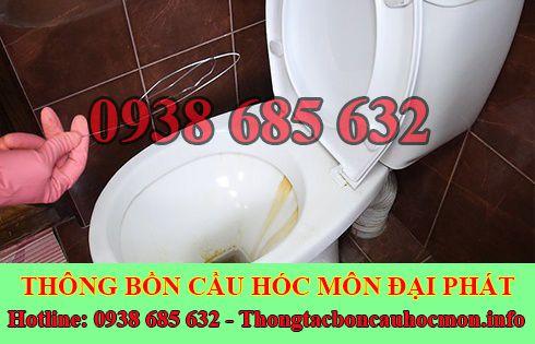 Thông bồn cầu tắc băng vệ sinh Huyện Hóc Môn 0938 685 632
