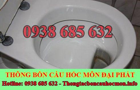 Thông bồn cầu dội nước không xuống Huyện Hóc Môn 0938685632