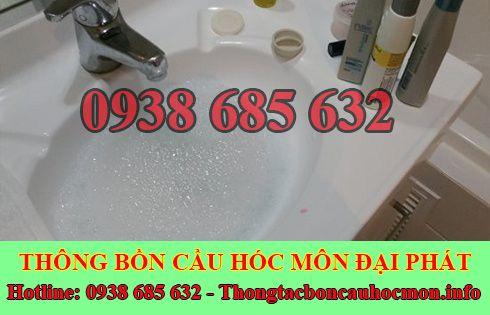 Thông bồn rửa chén bát trào ngược Huyện Hóc Môn 0938 685 632