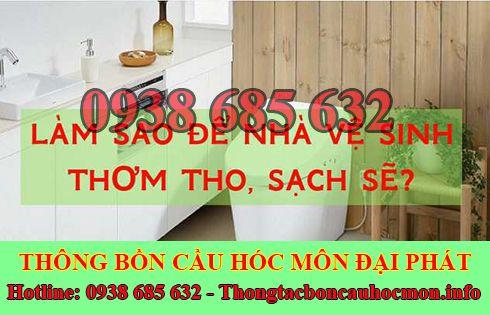 Đại Phát để xử lý mùi hôi toilet tại Huyện Hóc Môn.