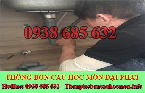 Thợ sửa bồn rửa chén bát Huyện Hóc Môn tại nhà 0938 685 632