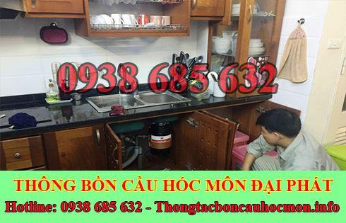 thông tắc nghẹt bồn rửa chén bát bồn rửa mặt lavabo Huyện Hóc Môn