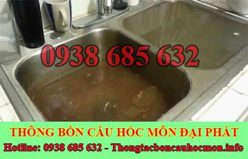 Thông tắc bồn chậu rửa chén bát Huyện Hóc Môn